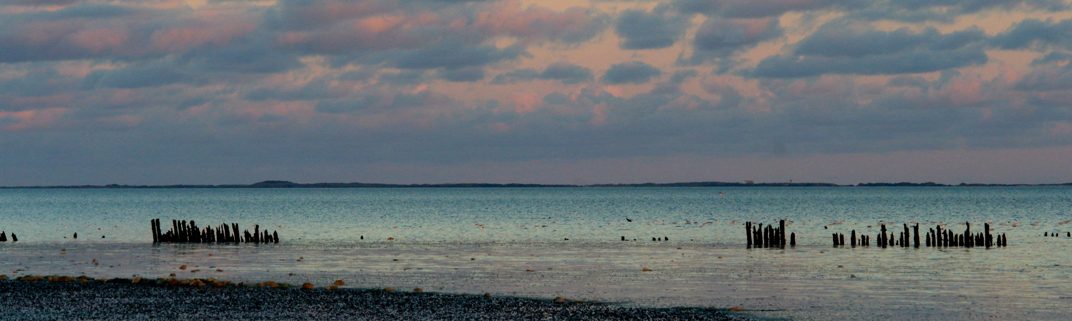 Laagwater Lauwersoog -meer de Wadden
