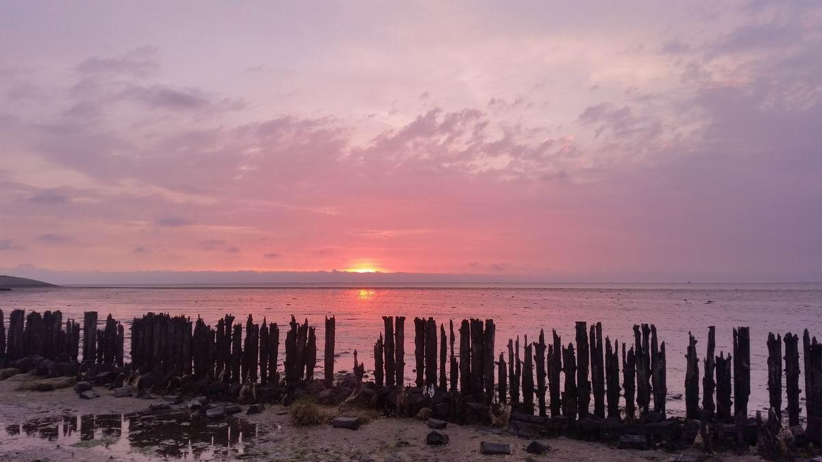 Vakantiehuis in Friesland met zonsondergang Moddergat